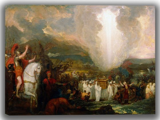 West, Benjamin: Joshua Passing the River Jordan with the Ark of the Covenant. Fine Art Canvas. Sizes: A4/A3/A2/A1 (004069)